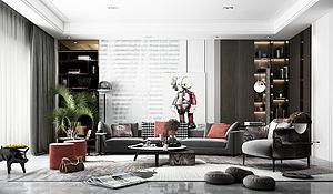 现代风格客厅模型3d模型