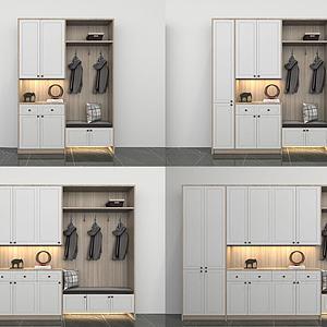 现代多功能鞋柜组合3d模型