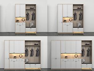 现代多功能鞋柜组合模型3d模型