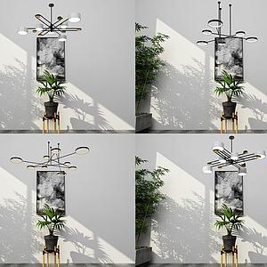 北歐吊燈3d模型