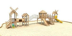 木質滑梯模型3d模型