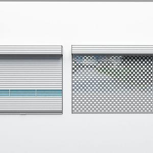 现代卷帘门3d模型