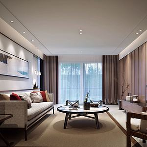 現代家裝客廳模型