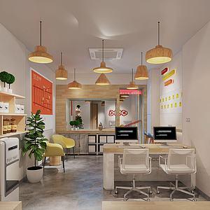 現代風格餐飲店面模型