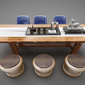 現代風格茶桌模型