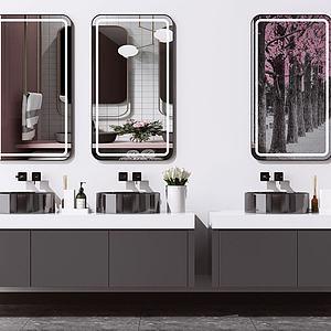 現代洗手臺模型