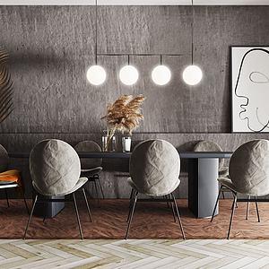 現代風格餐桌模型