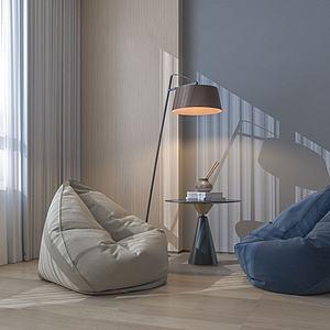 懶人沙發模型