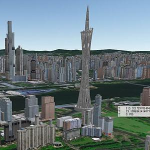 廣州塔模型