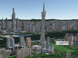 廣州塔模型模型3d模型