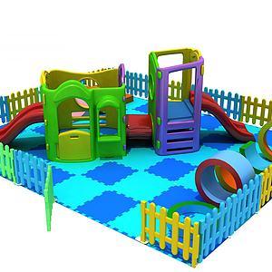兒童玩具滑梯模型