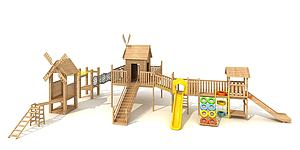 木質拓展模型3d模型