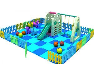 塑料小滑梯模型3d模型