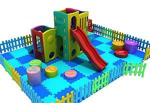 兒童玩具滑梯模型3d模型