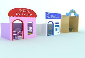 兒童角色扮演小房子模型3d模型