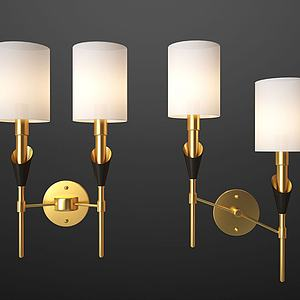 現代壁燈模型