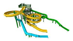 大型滑梯游樂設施模型3d模型