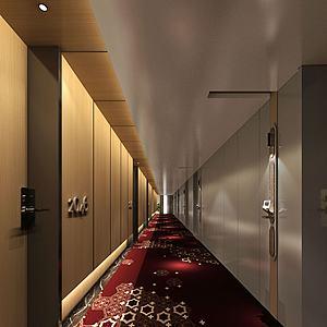 現代風格走廊模型3d模型