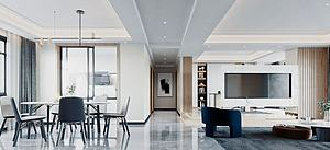现代轻奢风格客厅模型3d模型