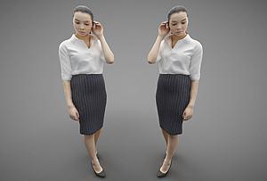 現代風格人物模型3d模型