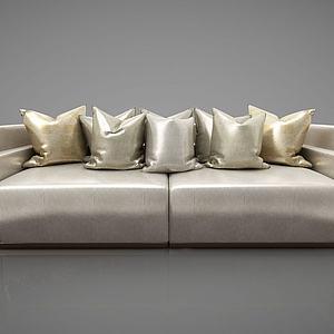 现代休闲椅双人沙发模型