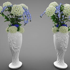 現代風格花瓶模型