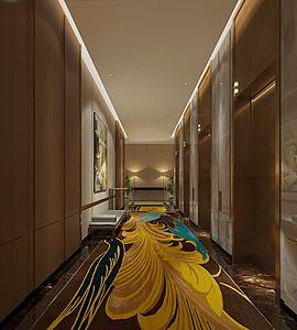 現代電梯廳模型3d模型