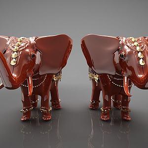 裝飾大象模型