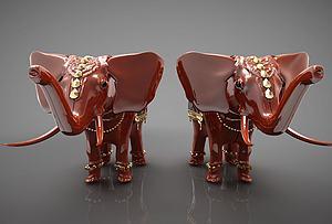 裝飾大象模型3d模型