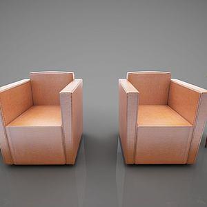 现代风格休闲沙发3d模型