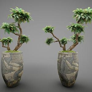 现代风格花瓶3d模型