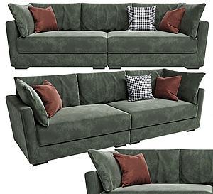 現代布藝多人沙發模型3d模型