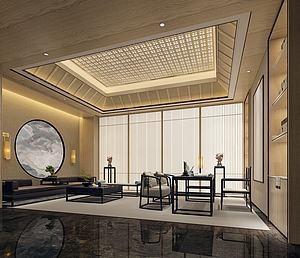 中式風格茶室模型3d模型