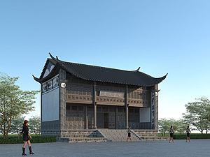 古建寺廟模型3d模型