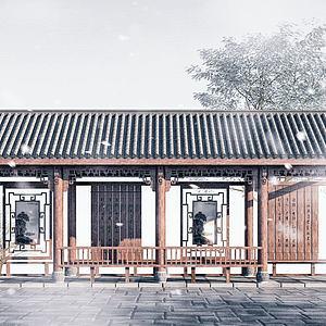 文化長廊3d模型