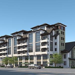 連排住宅樓3d模型