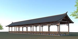 古建長廊模型3d模型