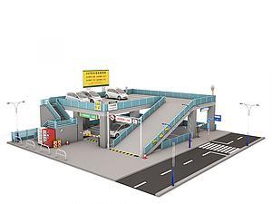 停車場模型3d模型