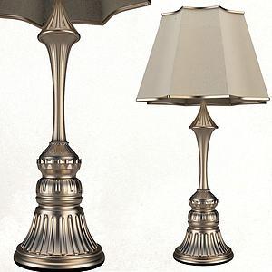 歐式復古玫瑰金臺燈模型3d模型