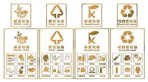 現代垃圾分類LOGO標識模型3d模型