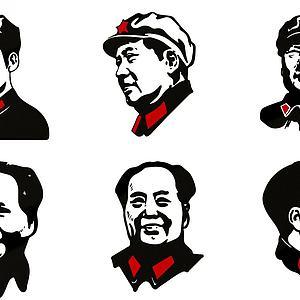 現代毛主席人物頭像模型