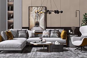 現代沙發模型3d模型
