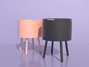 北歐式休閑小茶桌茶幾模型3d模型