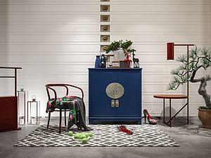 中式家具擺件模型3d模型