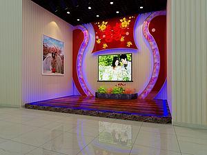 宴會廳舞臺背景效果2模型3d模型