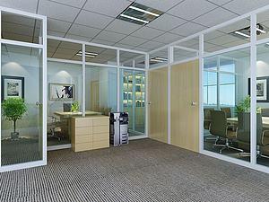 辦公區域模型3d模型