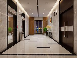 電梯廳模型3d模型
