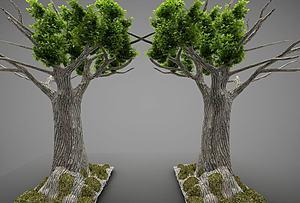 現代風格大樹模型3d模型