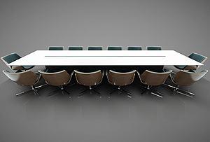 現代風格會議桌模型3d模型