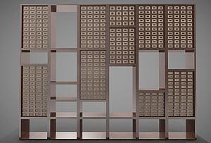 現代風格隔斷模型3d模型